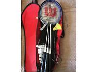 Wilson badminton set. 4 rackets.