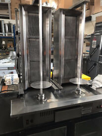 CANMAC ARCHWAY TWIN GAS DONER MACHINE, 3 BURNER DONER MACHINE