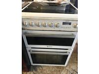 Hotpoint white 60cm full electric cooker