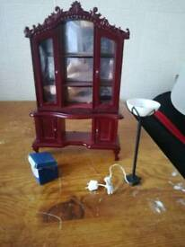 Dolls House furniture and figure