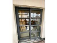 External lockable thermal sliding doors