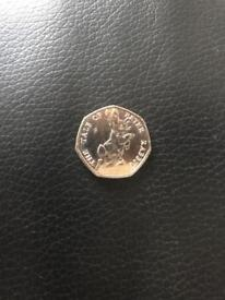 The tale of peter rabbit 50p 2017 limited edition