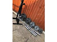 Olympic Weights Set & Bars. •Can Deliver•