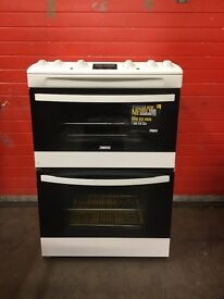Zanussi gas cooker ZCG63330WWA 60cm FSD double oven 3 months warranty free local delivery!!!!!