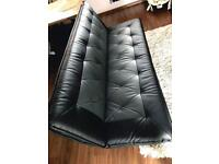 Faux leather 3 seater sofa bed excellent condition