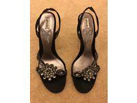 Black Jewel Embellished Black Heels