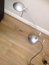 Silver extendable desk lamp