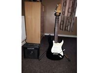 Encore Guitar (Stratocaster) Black