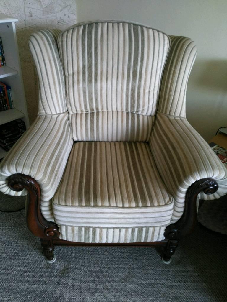 Queen Ann high back chair