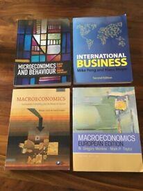 Reduced! University Economics / International Business books