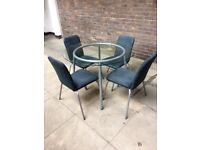 IKEA glass table & 4 chairs