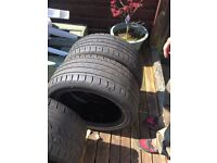 2 tyres fab condition size 255,45,r18