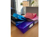 7 Colourful Ringbinder Folders