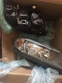 bmw e90 3 series LCI pair of headlights w/angel eyes