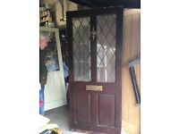 External Hardwood Halfglazed Door Letterbox Cut Out