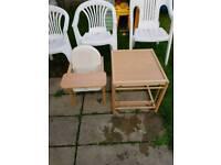 High chair/table
