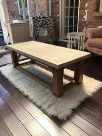 Painted solid oak coffee table