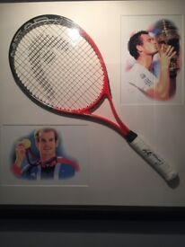 Signed Andy Murray racquet