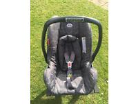 Britax Baby Car Seat with head insert.