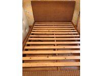Wicker bed frame