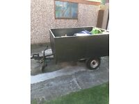 Box trailer with cover for sale