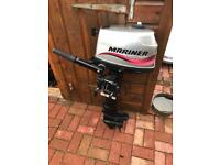 Outboard mariner 4hp four stroke boating fishing