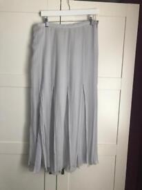 Italian Grey split skirt size 16