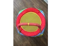 Mini trampoline for child age 12 months+, max weight 20kg. Great condition ready for more bouncing!