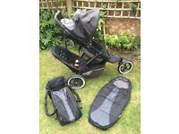Phil and Teds Explorer double pushchair with cocoon + sleeping bag