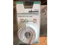 Nikkai telecoms 10 metre BT to RJ11 lead