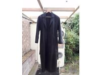 FULL LENGTH (BLACK) LEATHER COAT * Great Condition * £100
