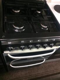 Black & silver cannon 50cm gas cooker grill & oven good condition with guarantee bargain