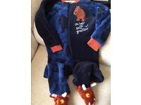 All-in-One Graffalo Pyjamas, size 2-3yrs