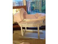 Lovely Moses basket poss delivery