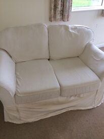 Free 2 seater white sofa