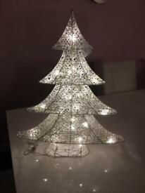 Stunning new white and silver. Led light up tree