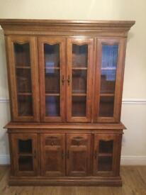 Beautiful oak wall cabinet
