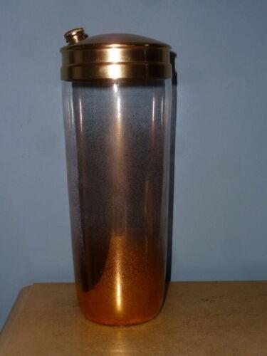 VTG BARWARE MID CENTURY MCM GOLD SPLATTER SPECKLED GLASS MARTINI COCKTAIL SHAKER