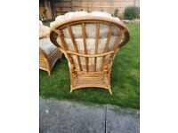 Conservatory Cane Furniture 2 chairs one sofa vgc