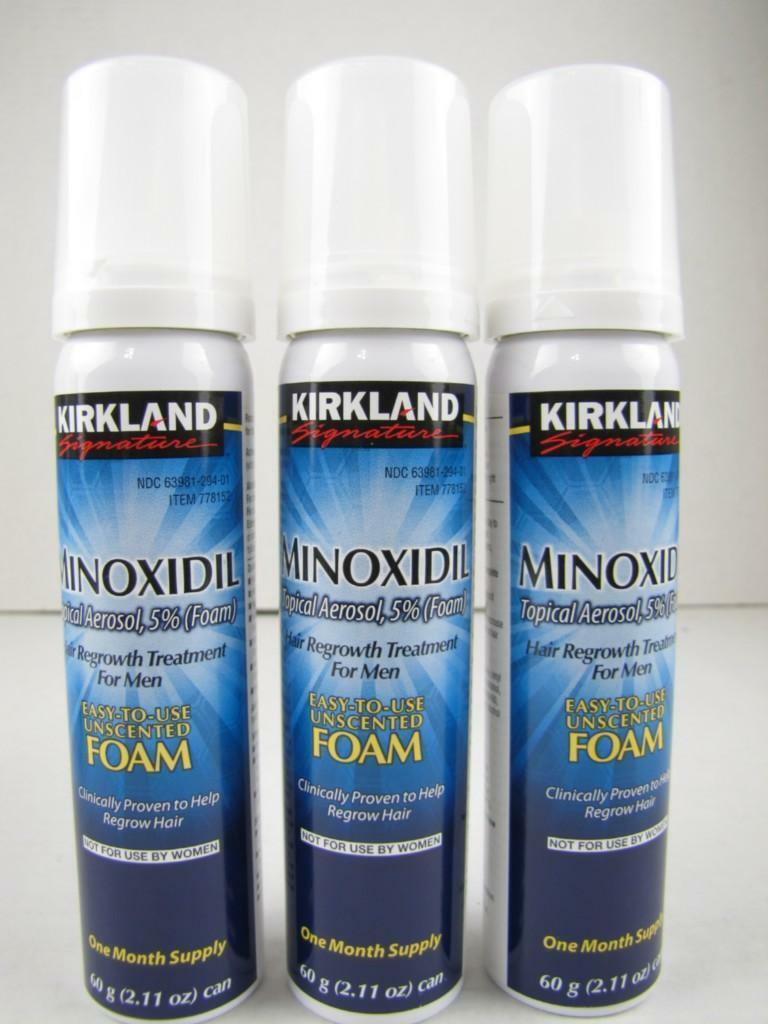 FOAM 3 Months KIRKLAND Minoxidil Topical Aerosol 5% Hair Regrowth Loss Treatment