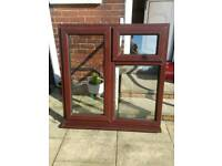 Upvc window,rose wood colour.