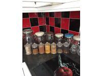 Various size storages jars