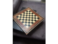 Checkers set and chess board bundle