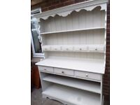 LARGE PAINTED PINE DRESSER