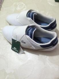 Brand new white Lacoste trainers