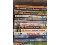 Job lot 64 children's DVDs