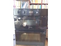 Hotpoint under-counter electric double oven with grill & matching gas hob - excellent working order