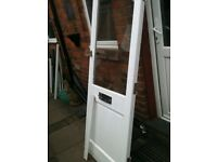 Exterior wooden door with clear d/glazed panel and frame