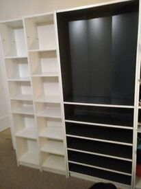 Billy Bookcase Double Black and White