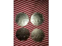 1940 50p coins ×4